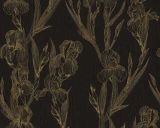 Daniel Hechter Wallpaper «Cottage, Floral, Black, Yellow» 375263
