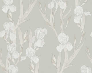 Daniel Hechter Tapete «Landhaus, Floral, Beige, Grau, Weiß» 375264