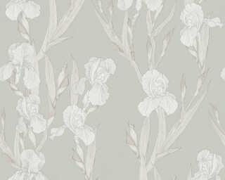 Daniel Hechter Wallpaper «Cottage, Floral, Beige, Grey, White» 375264