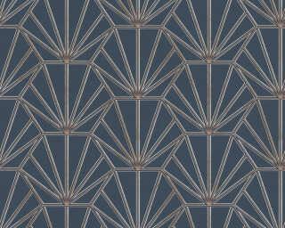 Daniel Hechter Wallpaper «Graphics, Beige, Blue, Gold, Metallic» 375283