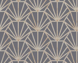 Daniel Hechter Wallpaper «Graphics, Cream, Gold, Grey, Metallic» 375284