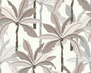 Private Walls Tapete «Floral, Beige, Grau, Weiß» 375305