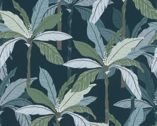 Private Walls Wallpaper «Floral, Blue, Green» 375306