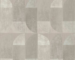 Private Walls Wallpaper «Graphics, Beige, Brown, Cream» 375314
