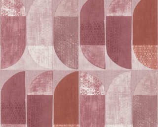 Private Walls Wallpaper «Graphics, Beige, Pink, Red» 375316