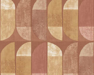 Private Walls Wallpaper «Graphics, Brown, Cream, Orange, Yellow» 375317