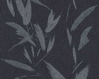A.S. Création Wallpaper «Floral, Black, Grey, Metallic, Silver» 375492