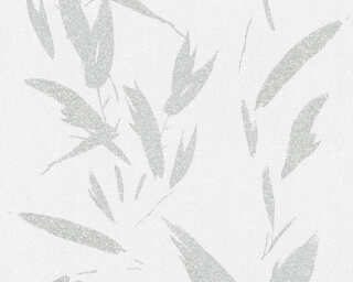 A.S. Création Wallpaper «Floral, Cream, Grey, Metallic, Silver» 375494