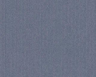 A.S. Création papier peint «Rayures, Floral, gris» 375501