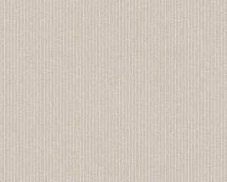 A.S. Création Wallpaper «Stripes, Floral, Beige, Cream» 375502