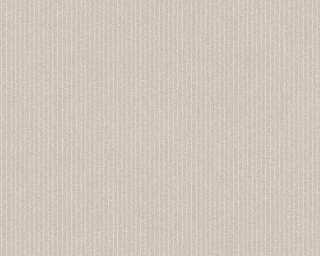 A.S. Création papier peint «Rayures, Floral, beige, crème» 375502