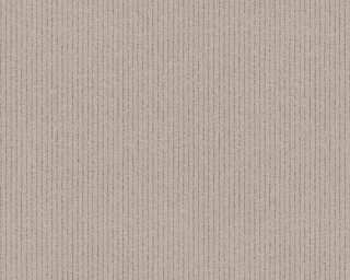 A.S. Création papier peint «Rayures, Floral, beige, marron» 375504