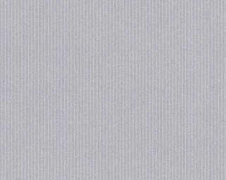 A.S. Création papier peint «Rayures, Floral, gris» 375505