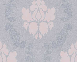 A.S. Création Wallpaper «Baroque, Grey, Pink» 375523