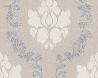 A.S. Création Wallpaper «Baroque, Beige, Cream, Grey» 375524