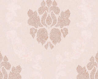A.S. Création Wallpaper «Baroque, Copper, Cream, Metallic, Pink» 375525