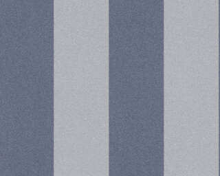 A.S. Création papier peint «Rayures, Floral, gris» 375545