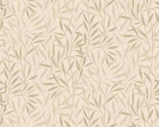 A.S. Création Wallpaper «Floral, Beige, Cream, Metallic» 376311