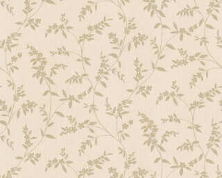 A.S. Création Wallpaper «Floral, Beige, Cream, Metallic» 376321