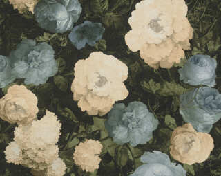 A.S. Création Wallpaper «Floral, Cream, Green, Yellow» 376502