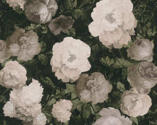A.S. Création Wallpaper «Floral, Cream, Green, Grey» 376503