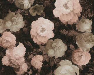 A.S. Création Wallpaper «Floral, Black, Cream, Pink» 376504