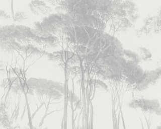 A.S. Création papier peint «Floral, crème, gris» 376513