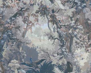 A.S. Création Wallpaper «Floral, Blue, Coloured, Grey» 376523