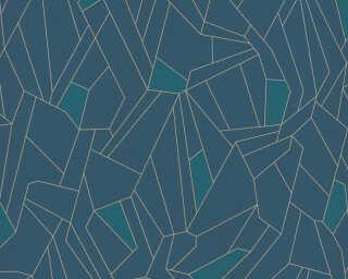 A.S. Création Tapete «Grafik, Blau, Metallics» 376772