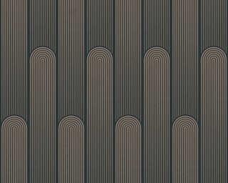 A.S. Création papier peint «Graphique, gris, métallique, noir» 376783
