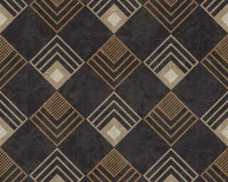 A.S. Création papier peint «Graphique, marron, métallique, noir» 376822