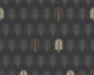 A.S. Création papier peint «Graphique, métallique, noir» 376833