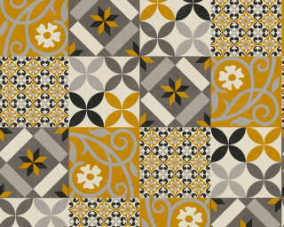 A.S. Création Wallpaper «Graphics, Black, Grey, Yellow» 376841