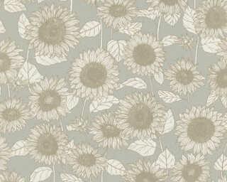 A.S. Création Tapete «Floral, Grün, Metallics, Weiß» 376852