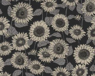 A.S. Création Tapete «Floral, Grau, Metallics, Schwarz» 376854