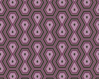 Architects Paper Tapete «Grafik, Braun, Rot, Violett» 377073