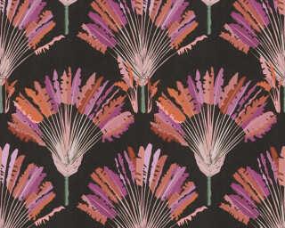 Architects Paper Tapete «Floral, Rot, Schwarz, Violett» 377083
