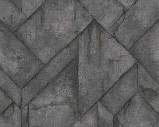 Livingwalls Tapete «Grafik, Grau, Metallics, Schwarz» 377412