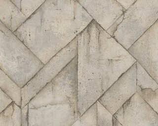 Livingwalls Tapete «Grafik, Beige, Braun, Grau» 377414