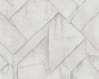 Livingwalls Tapete «Grafik, Grau, Weiß» 377415