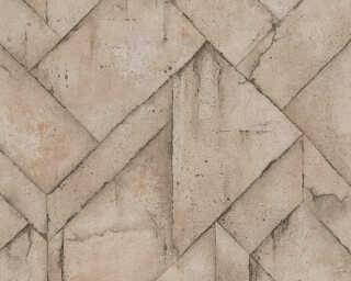Livingwalls Tapete «Grafik, Beige, Braun, Grau» 377416