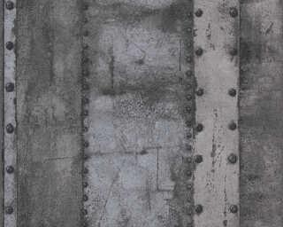 Livingwalls Tapete «Streifen, Grau, Metallics, Schwarz» 377434