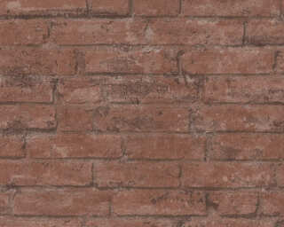 Livingwalls Обои «Деревенский стиль, Коричневыe, Красные» 377472