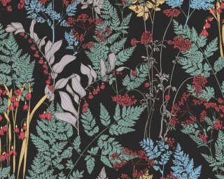 Architects Paper Vliestapete «Floral, Bunt, Schwarz» 377511