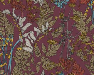 Architects Paper Vliestapete «Floral, Braun, Bunt, Rot» 377514