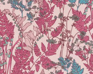 Architects Paper Vliestapete «Floral, Blau, Bunt, Rosa» 377518