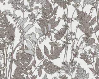 Architects Paper Обои «Флора, Белые, Коричневыe, Серыe» 377521