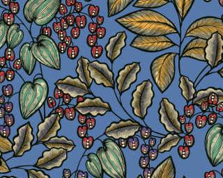 Architects Paper Vliestapete «Floral, Blau, Bunt» 377541