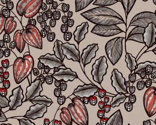 Architects Paper Vliestapete «Floral, Braun, Orange» 377543