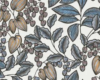 Architects Paper Vliestapete «Floral, Blau, Bunt, Creme» 377548